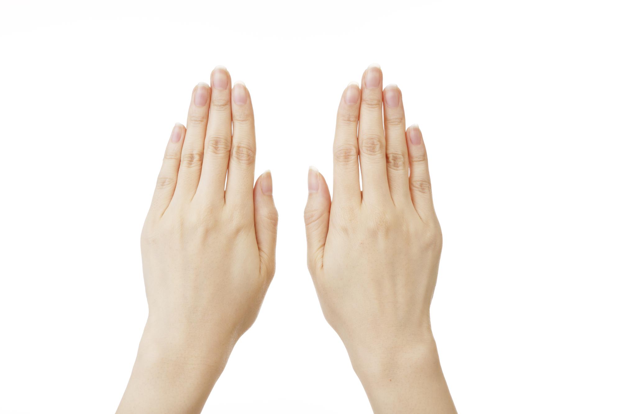 両手を並べる